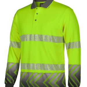 HI VIS L/S ARROW SUB POLO WITH SEGMENTED TAPE Thumbnail