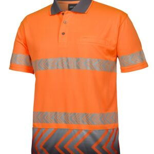 HI VIS S/S ARROW SUB POLO WITH SEGMENTED TAPE Thumbnail