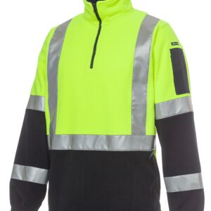 HI VIS (D+N) H PATTERN BIOMOTION 1/2 ZIP POLAR FLEECE Thumbnail