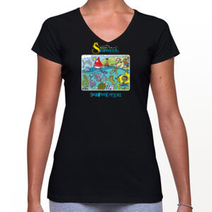 Seaweek 2016 womens v - Bevel V-Neck Tee Thumbnail