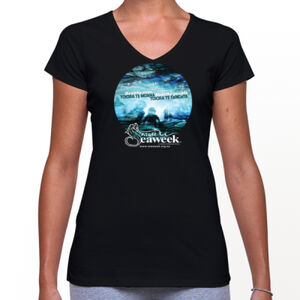 Seaweek 2018 womens v-neck t-shirt Thumbnail